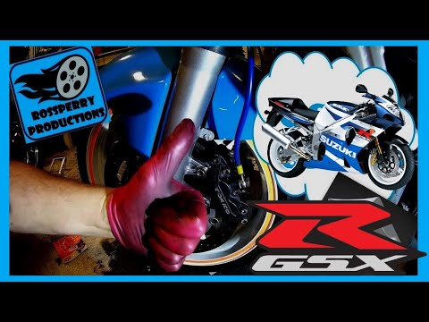 Suzuki GSXR 600 750 K1 K2 K3 How To Replace Brake Pads Tokico Calipers Installation Tutorial
