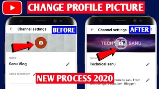 How to Change YouṪube Profile Picture on pc 2020 | Youtube Profile Image