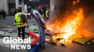 Protests in Paris over rising fuel costs