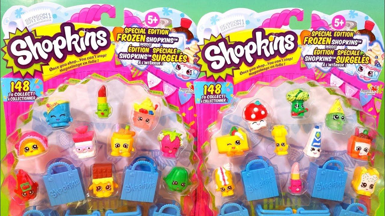 2 SHOPKINS Packs Season 1 Special Edition Frozen Shopkins 2 Surprise Blind  Bags Each Pack
