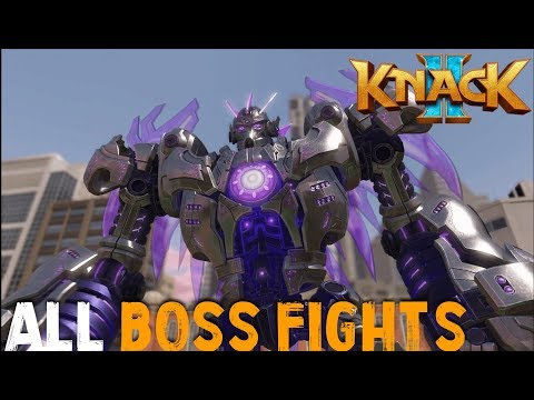 [PS4PRO] Knack 2 - All Boss Fights And Intros [1080p]