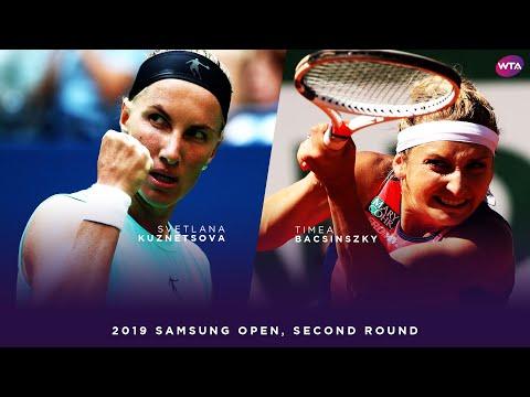 Svetlana Kuznetsova vs. Timea Bacsinszky | 2019 Samsung Open Second Round | WTA Highlights