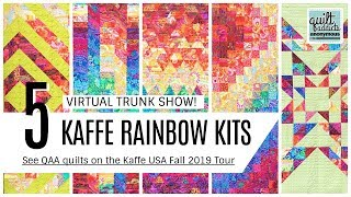 5 Kaffe Fassett Rainbow Stash Quilts You Can Make With Pre-Cuts! Virtual Trunk Show