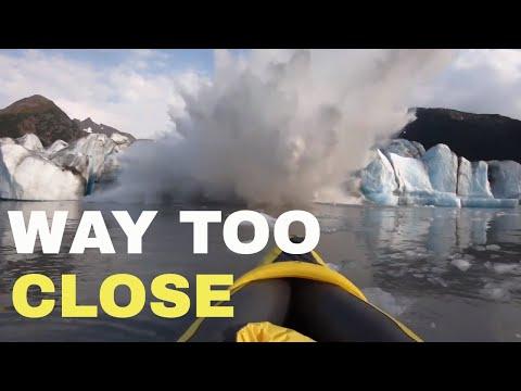 We almost DIED in Spencer Glacier calving - Alaska 2019
