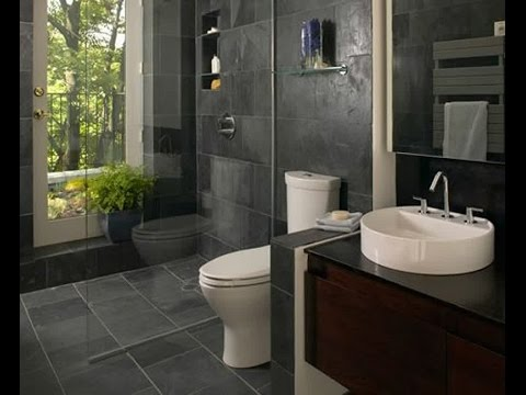 Modern Small Bathroom Design - YouTube