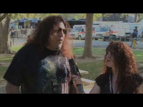 """""""Back Stage with BAM""""   Interview with Chuck Billy from Testament at  AfterShock 2013"""