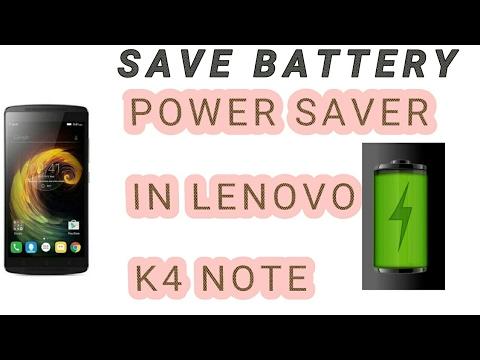 Power saver or Battery saver in LENOVO K4 NOTE