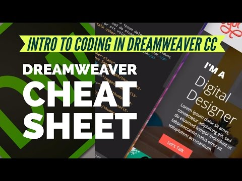 Dreamweaver Cheat Sheet