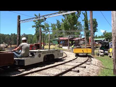 American Industrial Mining's Jeffrey Trolley Locomotive With Crosby Whistle