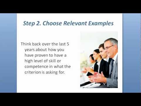 How To Respond To Key Selection Criteria