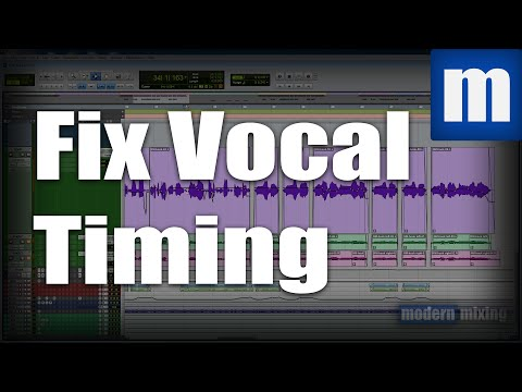 How to Fix Vocal Timing Issues the Tedious Way - ModernMixing.com