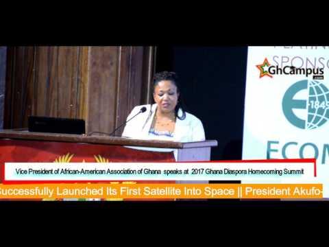 Emotional speech by African American Association of Ghana at Ghana Diaspora Homecoming Summit