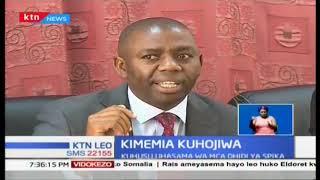 Gavana wa Nyandarua Francis Kimemia kuhojiwa kuhusu uhasama dhidi ya Spika
