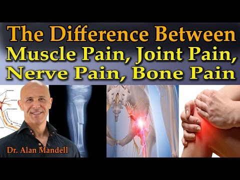 The Difference Between Muscle Pain, Joint Pain, Nerve Pain,
