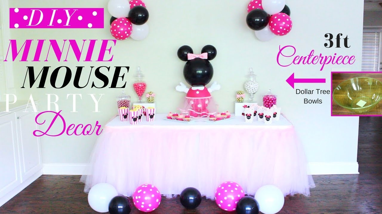 Minnie Mouse Diy Party Decorations Minnie Mouse Diy Centerpiece Diy Kids Party Decor For Girls Youtube