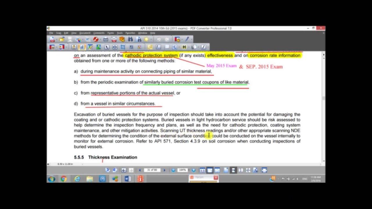 013 API 510 Course - (05) Inspection Examination & Pressure Testing -  lesson 013 (Arabic)