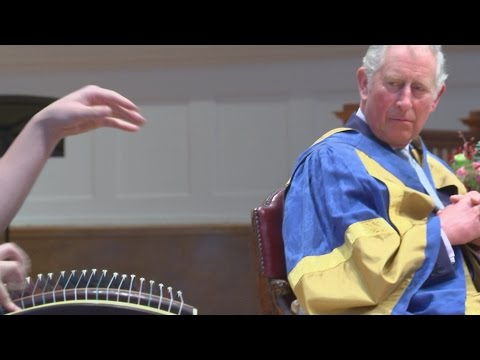 Charles hands out awards at Royal College of Music