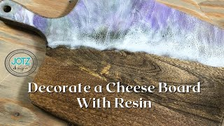 Decorating a cutting board / cheese board with resin!
