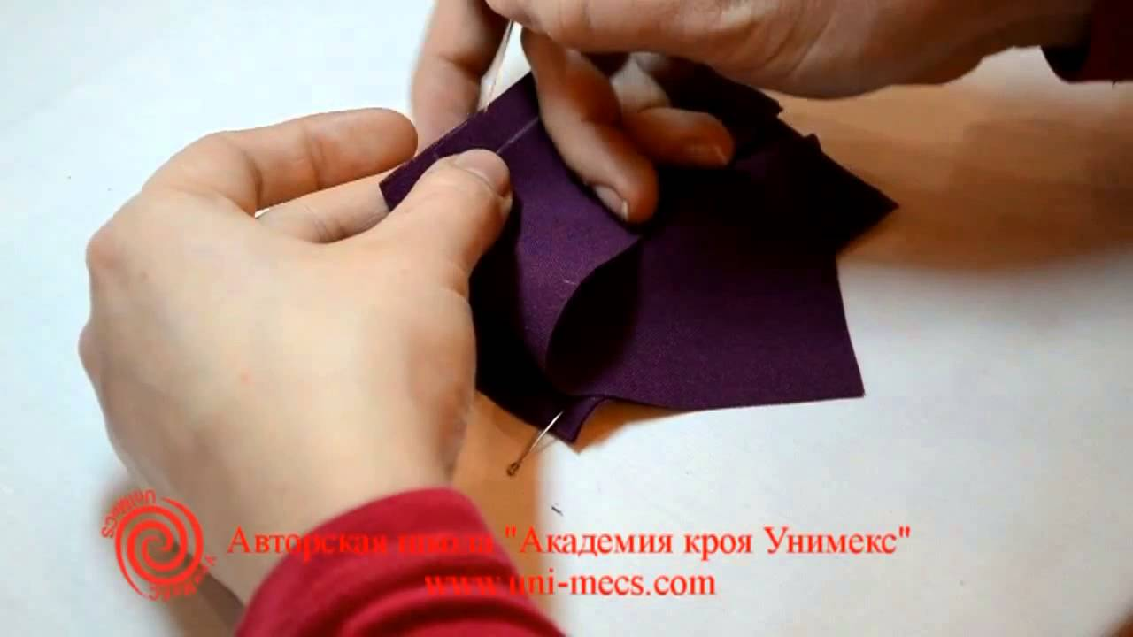 0a3c7127e7ea Уроки шитья - обработка угла при пошиве. Академии кроя УниМеКС для  начинающих - YouTube