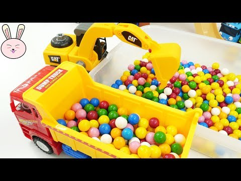 Kids toys | Excavator Dump Truck Cement Mixer Garbage Truck School Bus for kids | YapiTV Toy