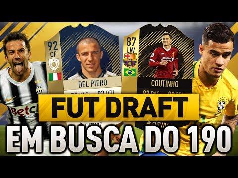 FIFA 18 FUT DRAFT DEL DEL PIERO E COUTINHO DO BARCELONA !