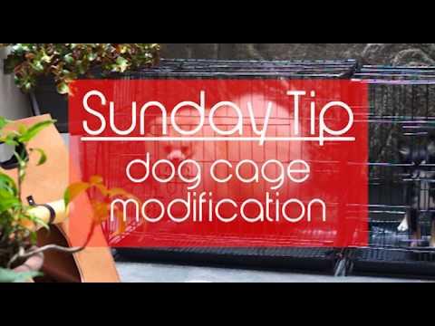 diy dog cage modification