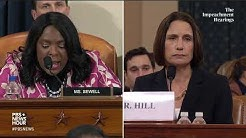 WATCH: Rep. Terri Sewell's full questioning of Hill and Holmes | Trump impeachment hearings
