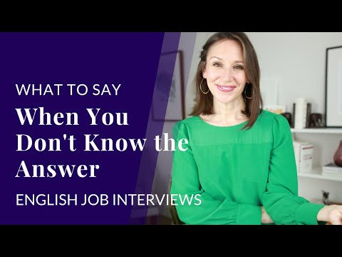 5 Ways to Respond to a Job Interview Question (When You Don't Know the Answer)