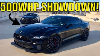 500WHP Cammed Camaro Races Bolt on 2018 Ford Mustang GT!