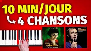 Joue 4 chansons au piano en 10 min/jour de travail seulement (Hallejuah, La bohème, Amélie Poulain)