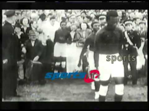 NIGERIAN UK TOURIST TEAM ARRIVE LIVERPOOL TODAY IN HISTORY {COLONIAL FILM}