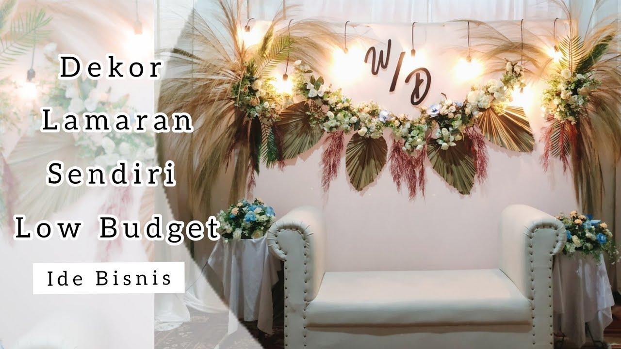 Membuat Backdrop Akad Nikah Sendiri Simple Dan Low Budget Youtube Dekorasi pernikahan buatan sendiri