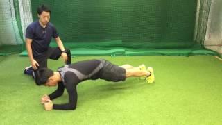 投球障害改善セルフトレーニングメニュー ⑮肩甲骨メニュー