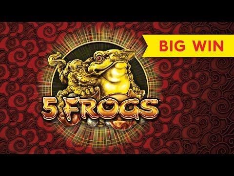 5 Frogs Slot - Super Feature Bonus, BIG WIN!