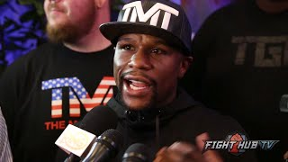 Floyd Mayweather says Pacquiao was all hype, that he beat everyone & he can chose who he wants to