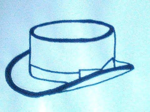 Как нарисовать шляпу цилиндр
