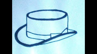 Как нарисовать шляпу-цилиндр - How to draw a hat-cylinder - 如何画一顶帽子缸