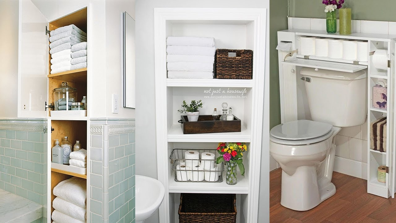 13 Big Ideas For Small Bathroom Storage Youtube