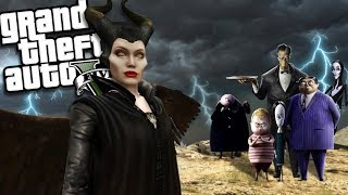 The MALEFICENT 2 VS The ADDAMS FAMILY MOD (GTA 5 PC Mods Gameplay)