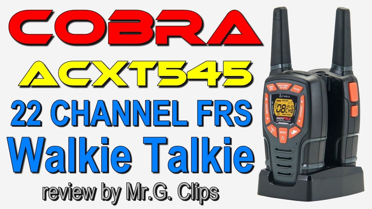 Cobra Acxt545 28 Mile Range Walkie Talkies Youtube