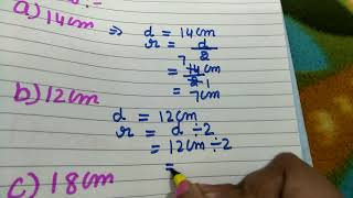 Find diameter and radius of the circle 4 4th and 5th standard kids in online class of maths