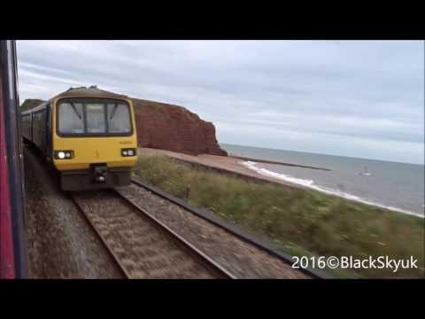 HST GWR passing Dawlish & Dawlish Warren