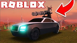 *NEW* OVERPOWERED MINIGUN CAR | ROBLOX JAILBREAK ROLEPLAY