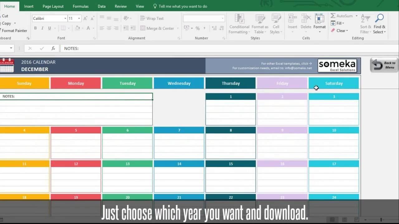2017 calendar download 17 free printable excel templates - 1280×720