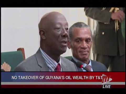 T And Guyana Sign Mou On Energy Cooperation Pm Rowley Ures No Takeover Of S Resources Ttt Live Online
