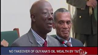 T&T And Guyana Sign MoU On Energy Cooperation, PM Rowley Assures No Takeover Of Guyana