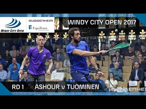 Squash: Ashour v Tuominen - Windy City Open 2017 Rd 1 Highlights