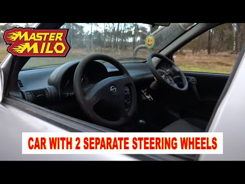 Car with 2 separate steering wheels!