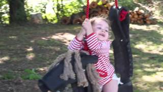 Eloise On New Horse Tire Swing