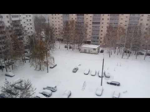 First Snow fall in Kazan - Russia
